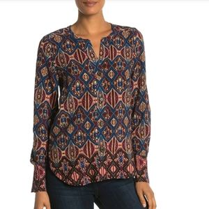 DR2 S Multi Color Button Down Long Sleeve Top